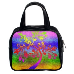 Tree Colorful Mystical Autumn Classic Handbags (2 Sides)