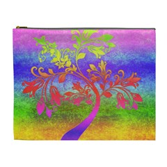 Tree Colorful Mystical Autumn Cosmetic Bag (xl)