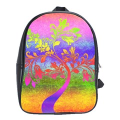 Tree Colorful Mystical Autumn School Bags(Large)