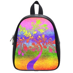 Tree Colorful Mystical Autumn School Bags (Small)