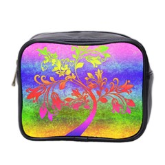 Tree Colorful Mystical Autumn Mini Toiletries Bag 2 Side