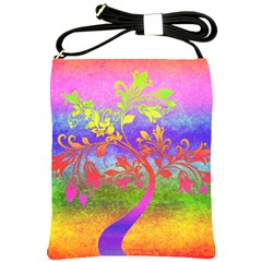 Tree Colorful Mystical Autumn Shoulder Sling Bags