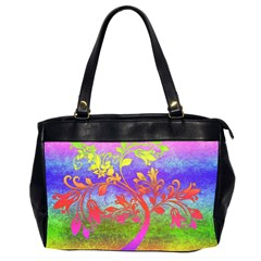Tree Colorful Mystical Autumn Office Handbags (2 Sides)