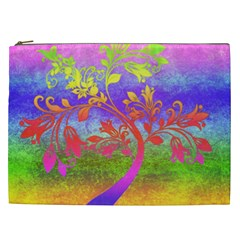 Tree Colorful Mystical Autumn Cosmetic Bag (xxl)