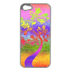 Tree Colorful Mystical Autumn Apple Iphone 5 Case (silver)