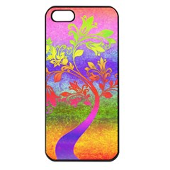 Tree Colorful Mystical Autumn Apple Iphone 5 Seamless Case (black)