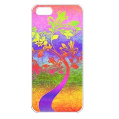 Tree Colorful Mystical Autumn Apple Iphone 5 Seamless Case (white)