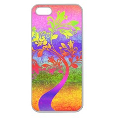 Tree Colorful Mystical Autumn Apple Seamless Iphone 5 Case (clear)