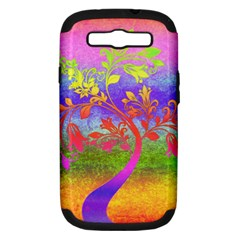 Tree Colorful Mystical Autumn Samsung Galaxy S III Hardshell Case (PC+Silicone)