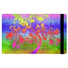 Tree Colorful Mystical Autumn Apple Ipad 2 Flip Case