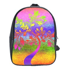 Tree Colorful Mystical Autumn School Bags (XL)