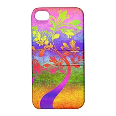 Tree Colorful Mystical Autumn Apple Iphone 4/4s Hardshell Case With Stand