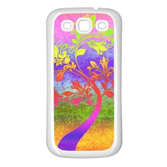 Tree Colorful Mystical Autumn Samsung Galaxy S3 Back Case (white)