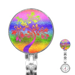 Tree Colorful Mystical Autumn Stainless Steel Nurses Watch