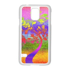Tree Colorful Mystical Autumn Samsung Galaxy S5 Case (White)