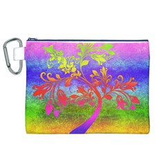 Tree Colorful Mystical Autumn Canvas Cosmetic Bag (XL)