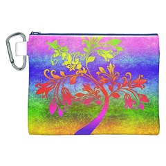 Tree Colorful Mystical Autumn Canvas Cosmetic Bag (XXL)