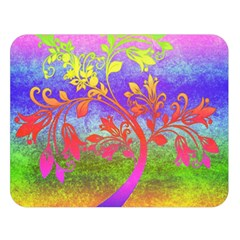 Tree Colorful Mystical Autumn Double Sided Flano Blanket (large)