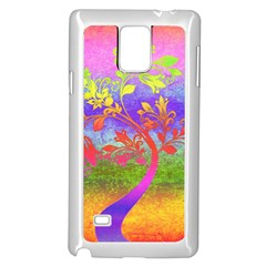 Tree Colorful Mystical Autumn Samsung Galaxy Note 4 Case (White)