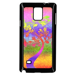 Tree Colorful Mystical Autumn Samsung Galaxy Note 4 Case (Black)