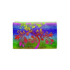 Tree Colorful Mystical Autumn Cosmetic Bag (XS)