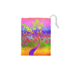 Tree Colorful Mystical Autumn Drawstring Pouches (XS)