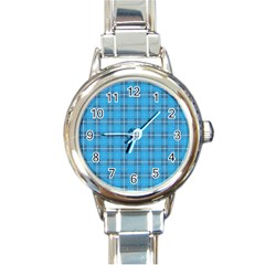 The Checkered Tablecloth Round Italian Charm Watch