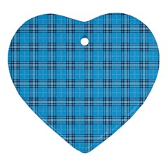 The Checkered Tablecloth Ornament (heart)