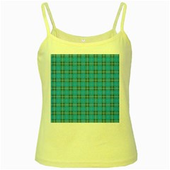 The Checkered Tablecloth Yellow Spaghetti Tank