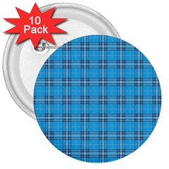 The Checkered Tablecloth 3  Buttons (10 Pack)