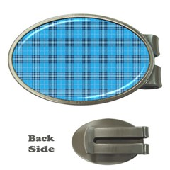 The Checkered Tablecloth Money Clips (Oval)
