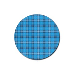 The Checkered Tablecloth Rubber Round Coaster (4 pack)