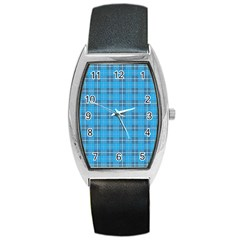 The Checkered Tablecloth Barrel Style Metal Watch