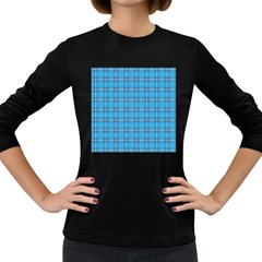 The Checkered Tablecloth Women s Long Sleeve Dark T Shirts