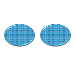 The Checkered Tablecloth Cufflinks (oval)