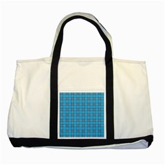 The Checkered Tablecloth Two Tone Tote Bag