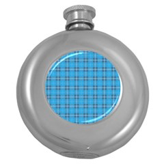 The Checkered Tablecloth Round Hip Flask (5 oz)