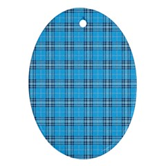 The Checkered Tablecloth Oval Ornament (Two Sides)