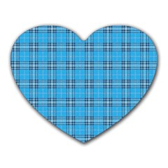The Checkered Tablecloth Heart Mousepads