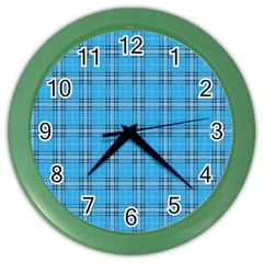 The Checkered Tablecloth Color Wall Clocks
