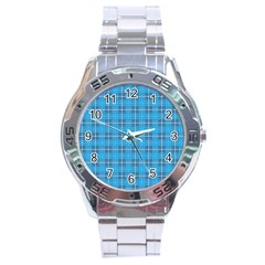 The Checkered Tablecloth Stainless Steel Analogue Watch