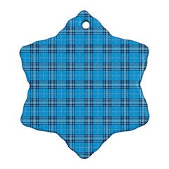The Checkered Tablecloth Snowflake Ornament (Two Sides)