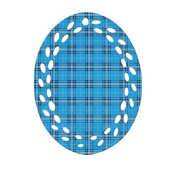 The Checkered Tablecloth Oval Filigree Ornament (two Sides)