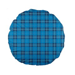 The Checkered Tablecloth Standard 15  Premium Round Cushions