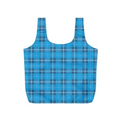 The Checkered Tablecloth Full Print Recycle Bags (S)