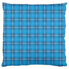 The Checkered Tablecloth Large Flano Cushion Case (two Sides)