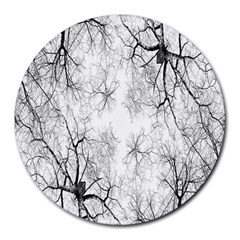 Tree Knots Bark Kaleidoscope Round Mousepads