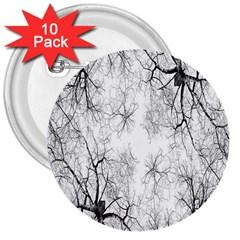 Tree Knots Bark Kaleidoscope 3  Buttons (10 pack)