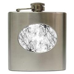 Tree Knots Bark Kaleidoscope Hip Flask (6 Oz)