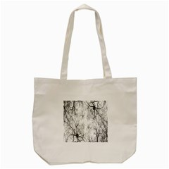 Tree Knots Bark Kaleidoscope Tote Bag (Cream)